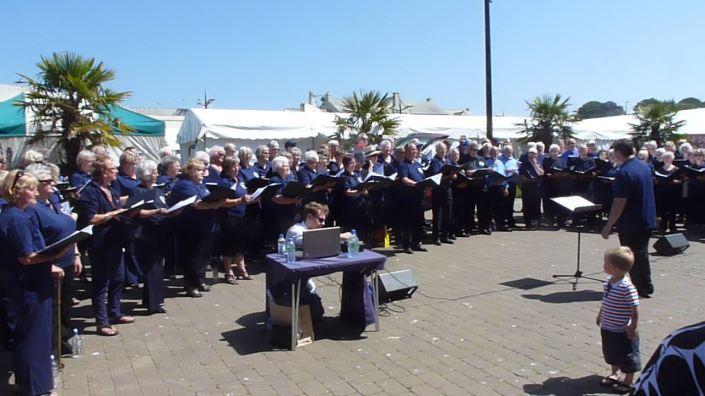 CSC 'flash mob' Lemon Quay, Truro
